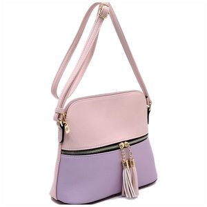 Tassel Zip Dome Crossbody Bag Satchel